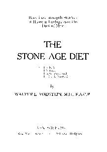 Cover of: The stone age diet | Walter L. Voegtlin